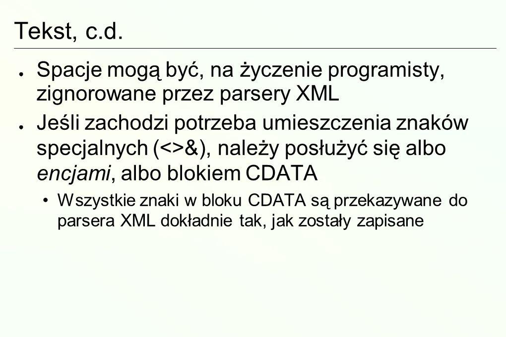 Tekst, c.d.