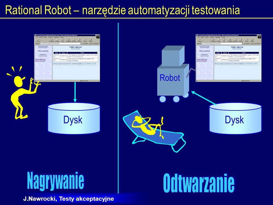 J.Nawrocki, Testy akceptacyjne Na czym polega automatyzacja testowania.