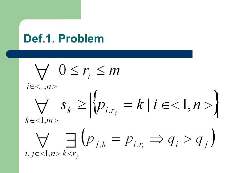 Def.1. Problem