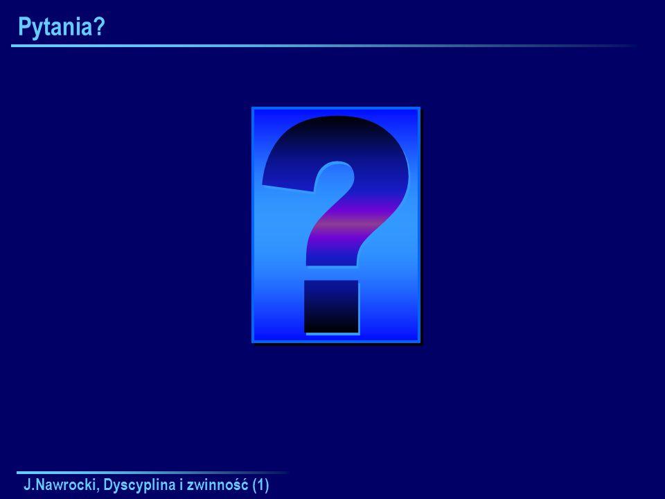 J.Nawrocki, Dyscyplina i zwinność (1) Pytania?