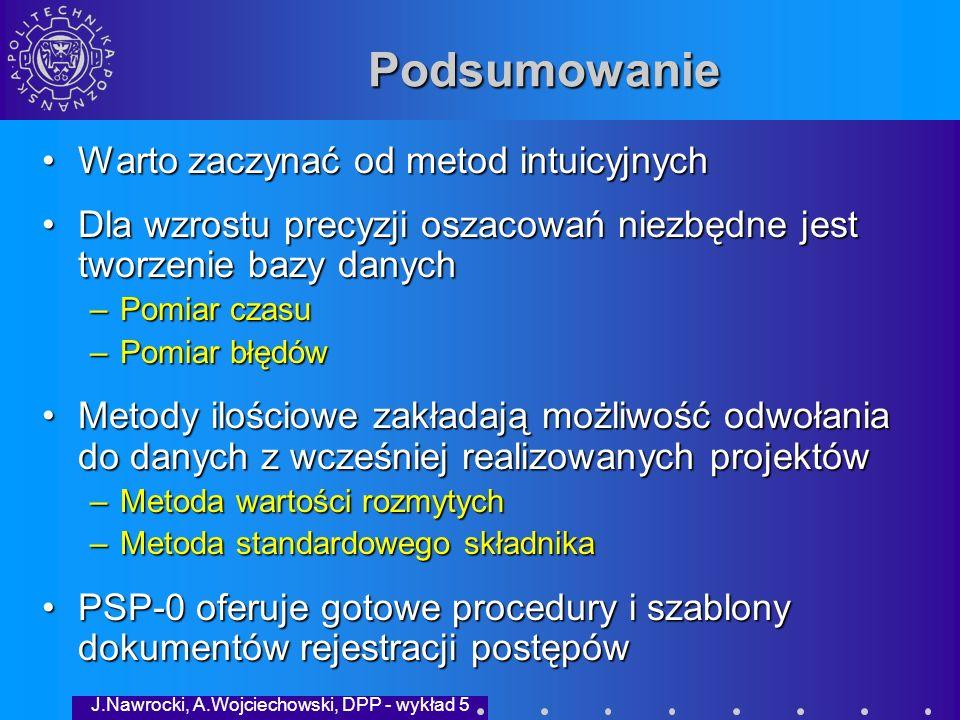 J.Nawrocki, A.Wojciechowski, DPP - wykład 5 Ocena wykładu 1.