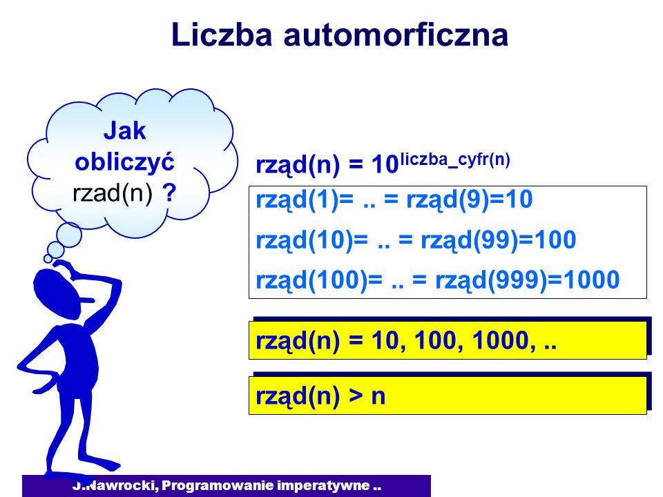 J.Nawrocki, Programowanie imperatywne..Obliczanie wielomianu S= c(0) * c(1) *..