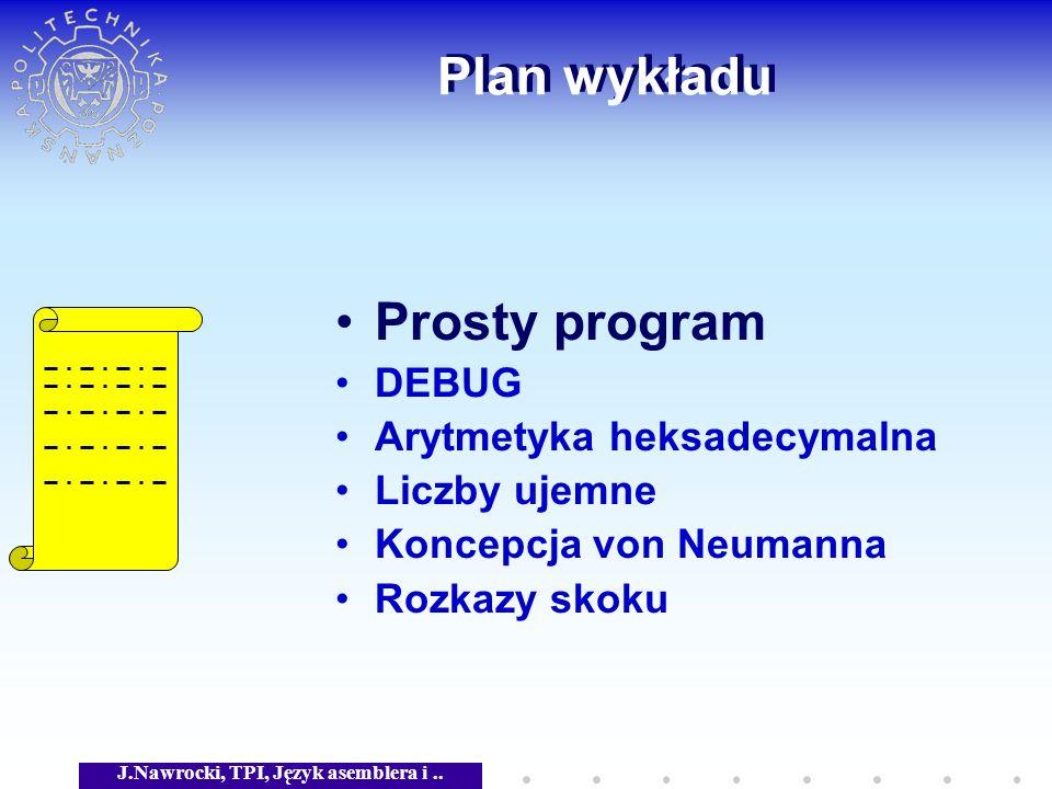 J.Nawrocki, TPI, Język asemblera i..