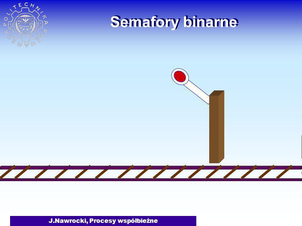 J.Nawrocki, Procesy współbieżne Semafory binarne
