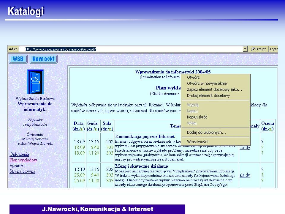 J.Nawrocki, Komunikacja & Internet Katalogi
