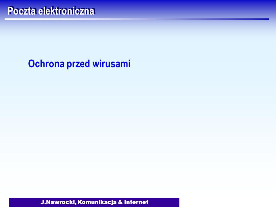 J.Nawrocki, Komunikacja & Internet Poczta elektroniczna Ochrona przed wirusami