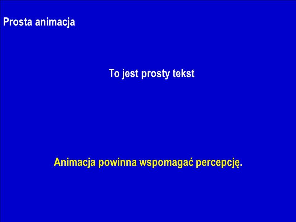 J.Nawrocki, Dokumenty i prezentacje Prosta animacja To jest prosty tekst Animacja powinna wspomagać percepcję.
