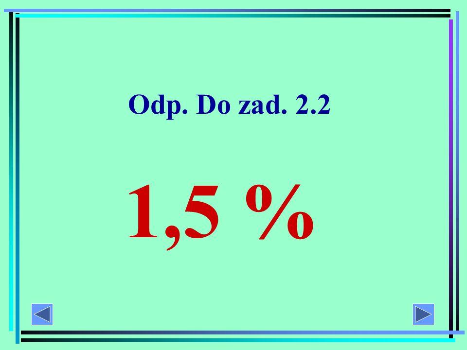 Zad. 2.2 Dane: ilość białej kapusty – 100 g Jaki procent kapusty stanowi białko