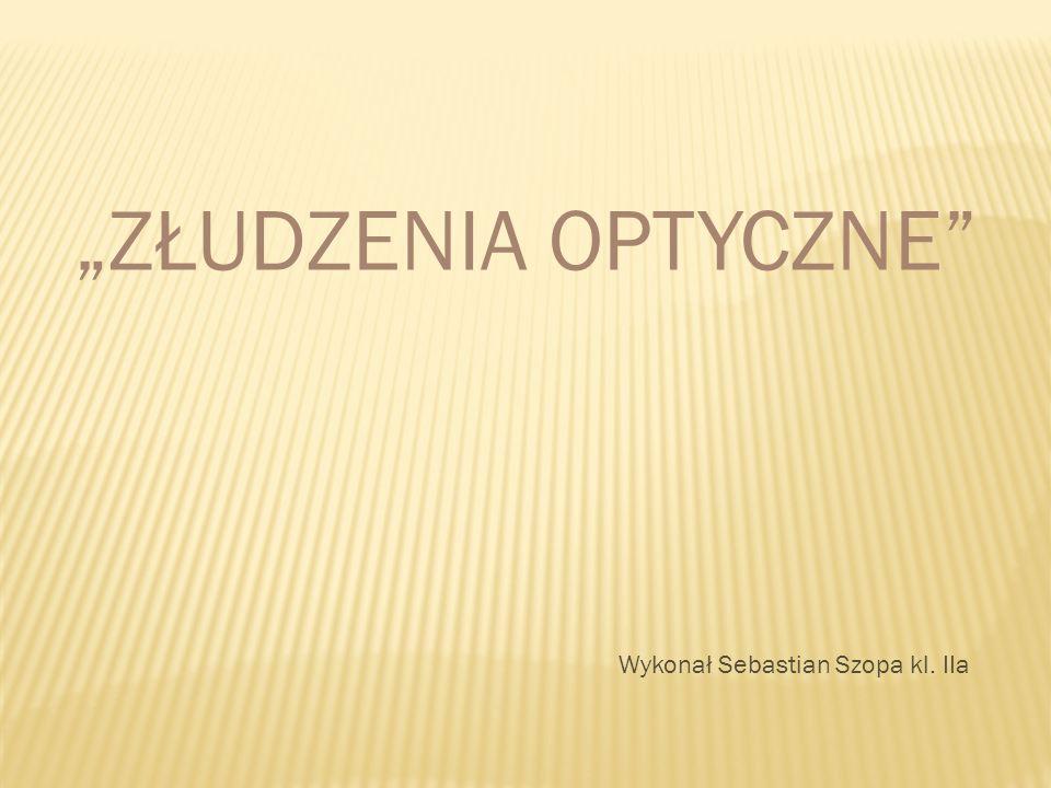 ZŁUDZENIA OPTYCZNE Wykonał Sebastian Szopa kl. IIa