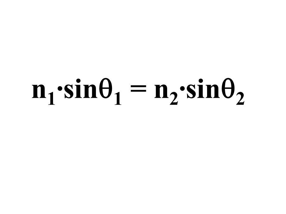 n 1 ·sin 1 = n 2 ·sin 2