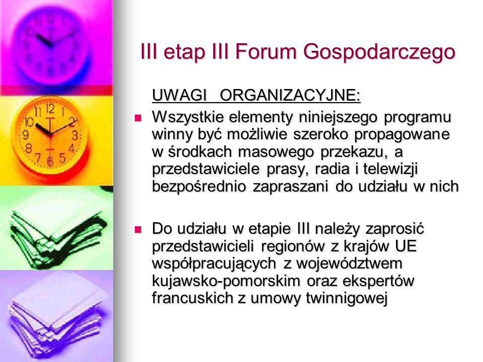 Departament Polityki Regionalnej i Gospodarki Przestrzennej Urząd Marszałkowski w Toruniu KARTA UCZESTNIKA III etapu III Forum Gospodarczego Województwa Kujawsko-Pomorskiego Imię i nazwisko.....................................................................