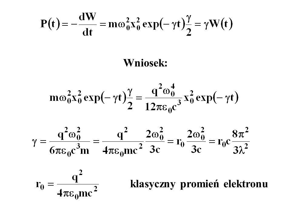 klasyczny promień elektronu