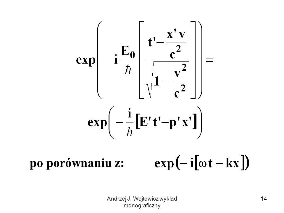 Andrzej J. Wojtowicz wyklad monograficzny 14 po porównaniu z: