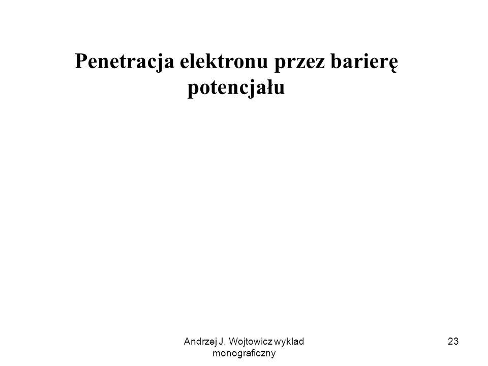 Andrzej J. Wojtowicz wyklad monograficzny 23 Penetracja elektronu przez barierę potencjału