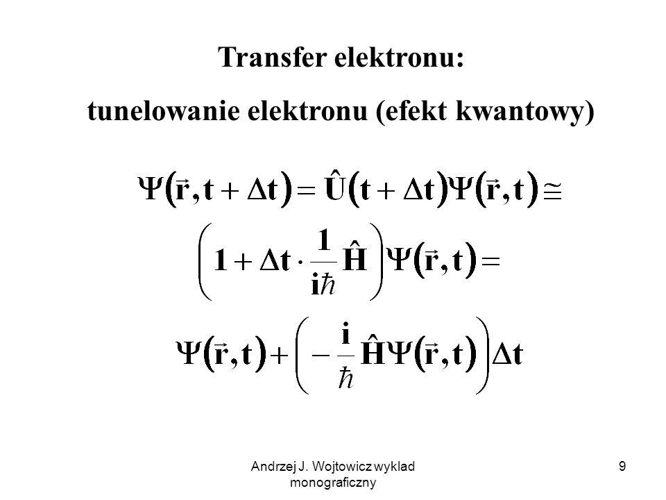 Andrzej J. Wojtowicz wyklad monograficzny 9 Transfer elektronu: tunelowanie elektronu (efekt kwantowy)