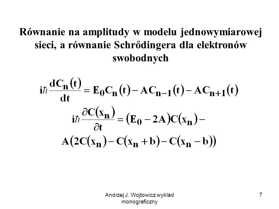 Andrzej J. Wojtowicz wyklad monograficzny 8 Duże A, szerokie pasmo i mała masa efektywna