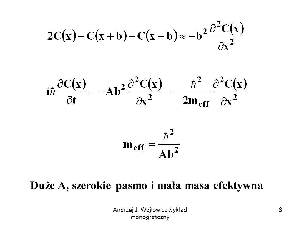 Andrzej J. Wojtowicz wyklad monograficzny 9 dla małych k: