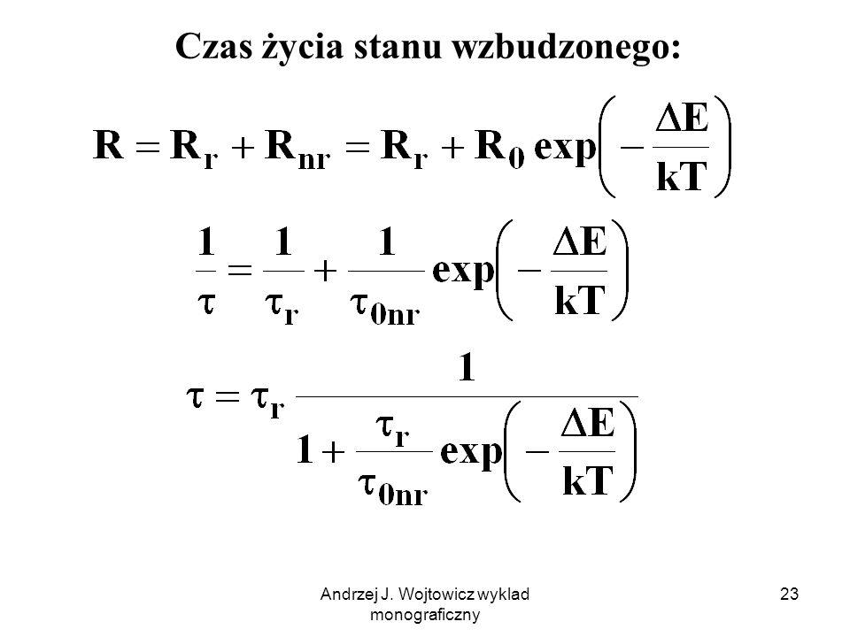 Andrzej J. Wojtowicz wyklad monograficzny 23 Czas życia stanu wzbudzonego: