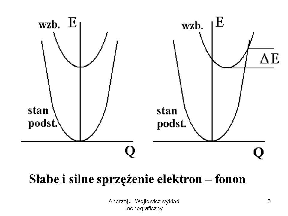 Andrzej J. Wojtowicz wyklad monograficzny 3 Słabe i silne sprzężenie elektron – fonon
