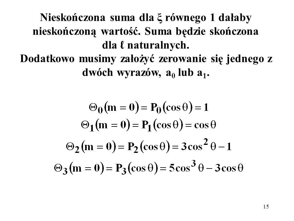 16 Można pokazać, że rozwiązaniami pełnego równania biegunowego: dla m różnego od 0, są tzw.