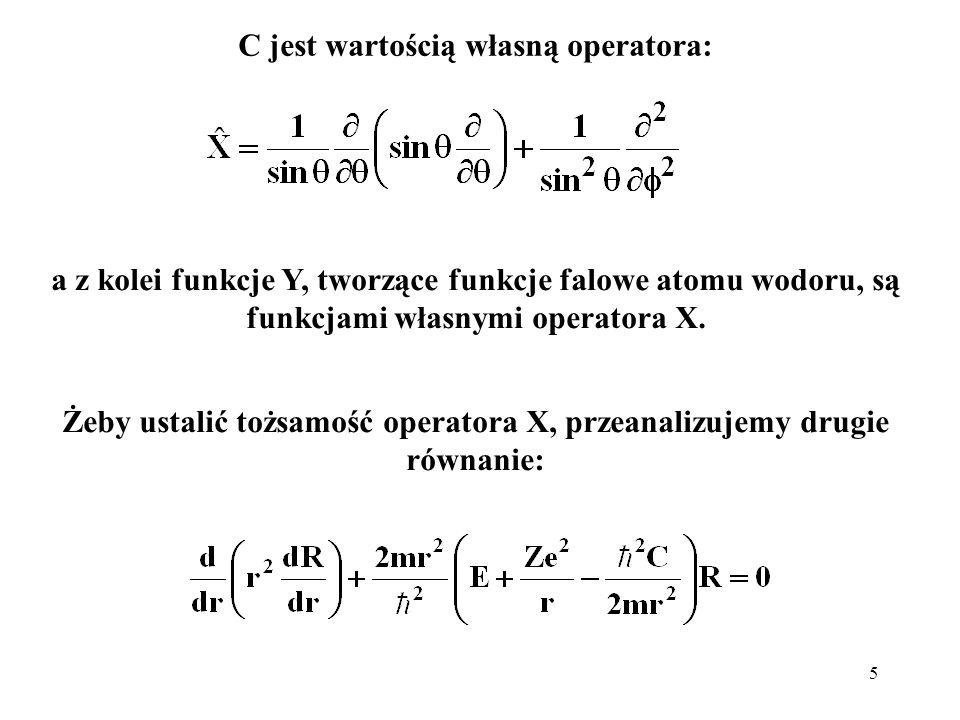 6 które przepiszemy w następującej postaci: jawnie pokazującej pochodzenie członów hamiltonianu: energia kinetyczna, potencjalna i ???.