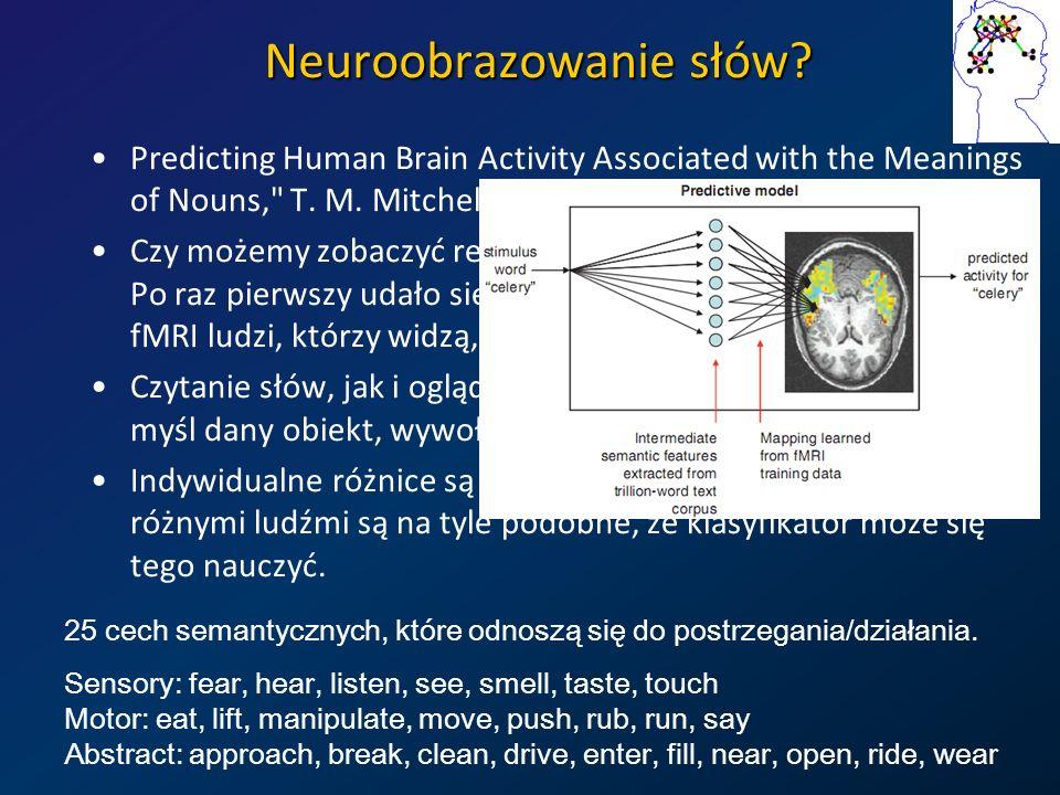 Neuroobrazowanie słów? Predicting Human Brain Activity Associated with the Meanings of Nouns,