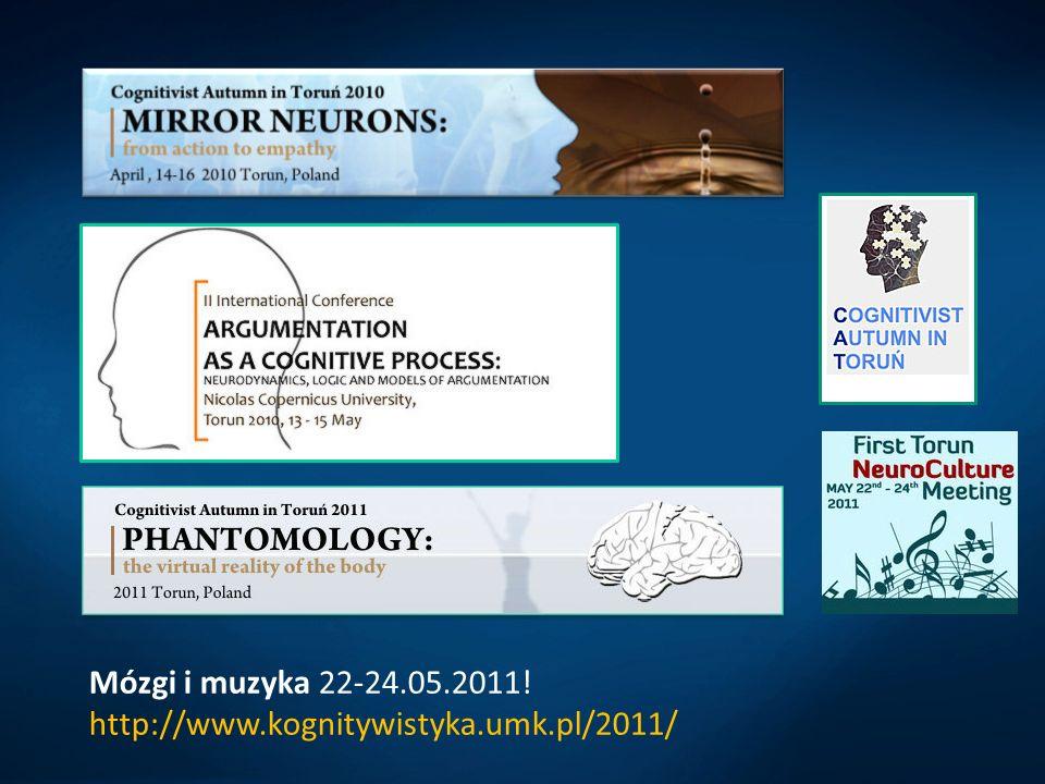 Mózgi i muzyka 22-24.05.2011! http://www.kognitywistyka.umk.pl/2011/