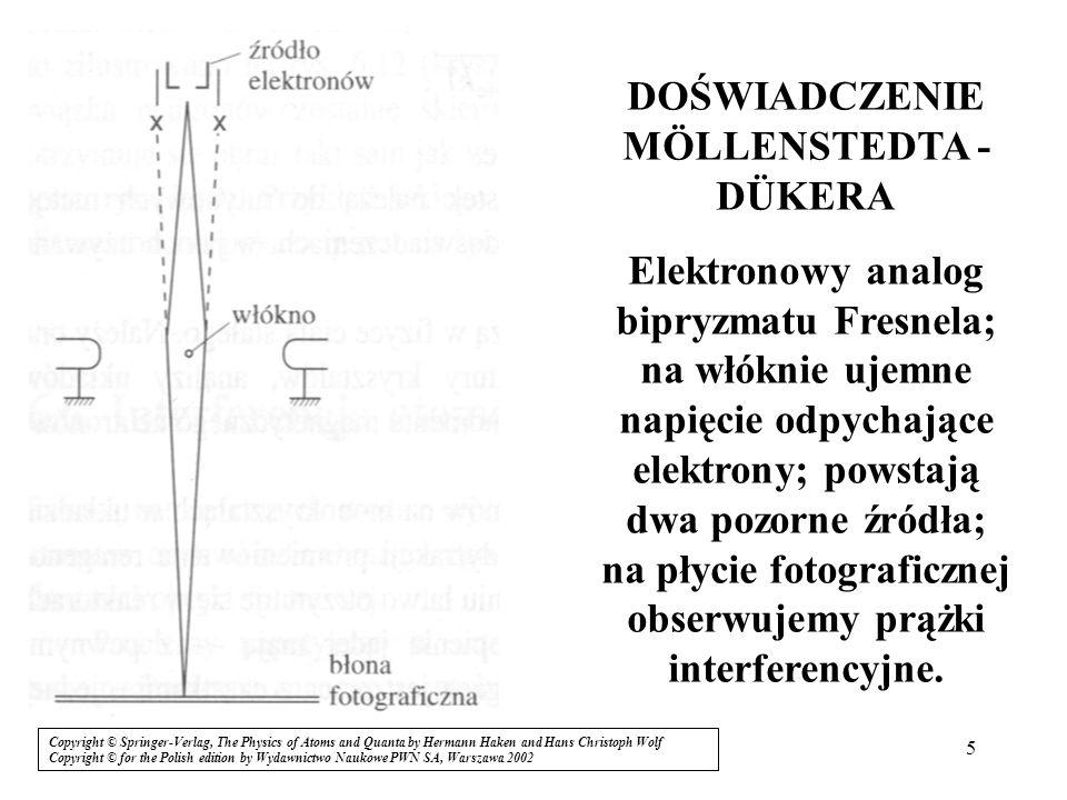 26 Zjawisko tunelowe, tunelowanie (przenikanie) cząstki materialnej przez barierę potencjału Halliday, Resnick, Walker, Podstawy fizyki, Copyright © Wydawnictwo Naukowe PWN SA, Warszawa 2003 Ponieważ: w obszarach x L i: dla x > 0 i x < L (Re(Ψ)) 2 tu oscylacje o mniejszej amplitudzie Cząstka przenika przez barierę (T < 1); efekt kwantowy