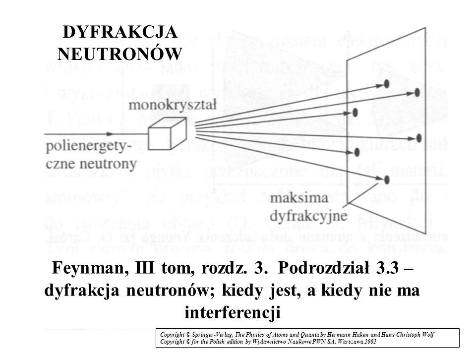17 Przed szczeliną płaska fala (nieoznaczoność położenia w kierunku x nieskończona, nieoznaczoność pędu zero) Za szczeliną: Z dyfrakcji: a z relacji deBrogliea: zasada nieoznaczoności Heisenberga