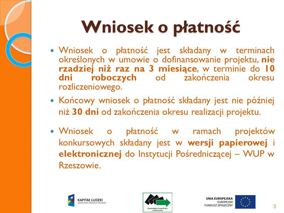 Wniosek o płatność 4 WNIOSEK BENEFICJENTA O PŁATNOŚĆ 1_WNIOSEK ZA OKRES: od 01.05.2008 r.