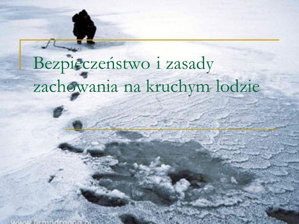 Pamiętaj!!.Nie ma bezpiecznego lodu, wchodząc na lód ryzykujesz życie!!.