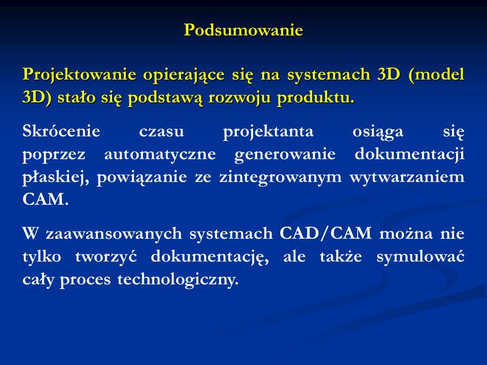 Projektowanie opierające się na systemach 3D (model 3D) stało się podstawą rozwoju produktu. Skrócenie czasu projektanta osiąga się poprzez automatycz