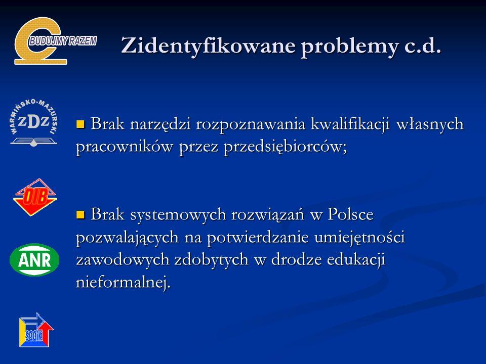 Zidentyfikowane problemy c.d.