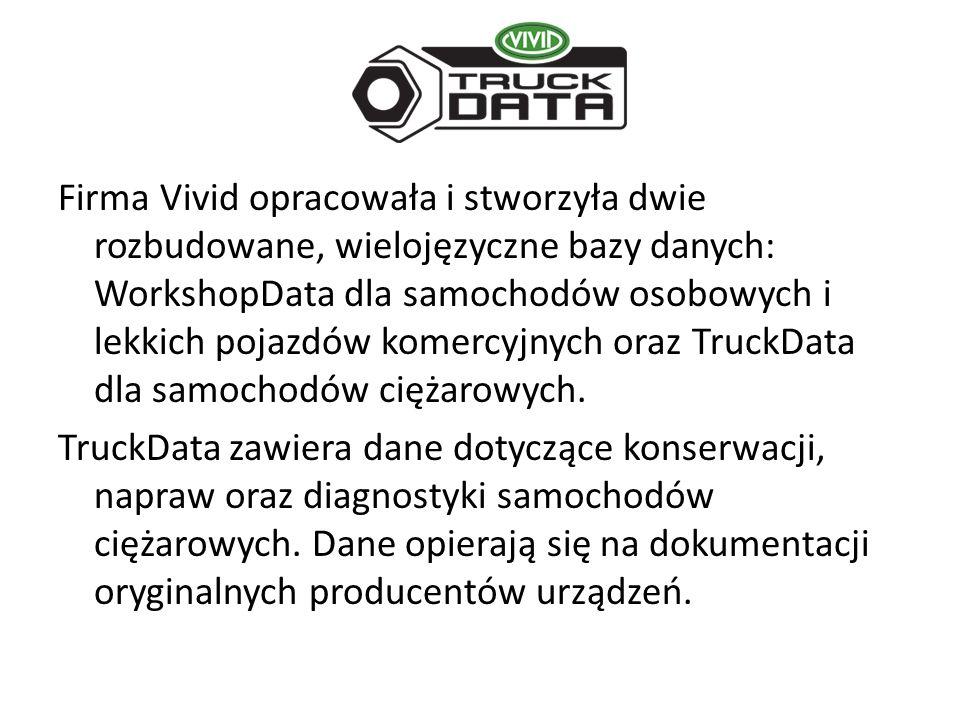 Firma Vivid opracowała i stworzyła dwie rozbudowane, wielojęzyczne bazy danych: WorkshopData dla samochodów osobowych i lekkich pojazdów komercyjnych