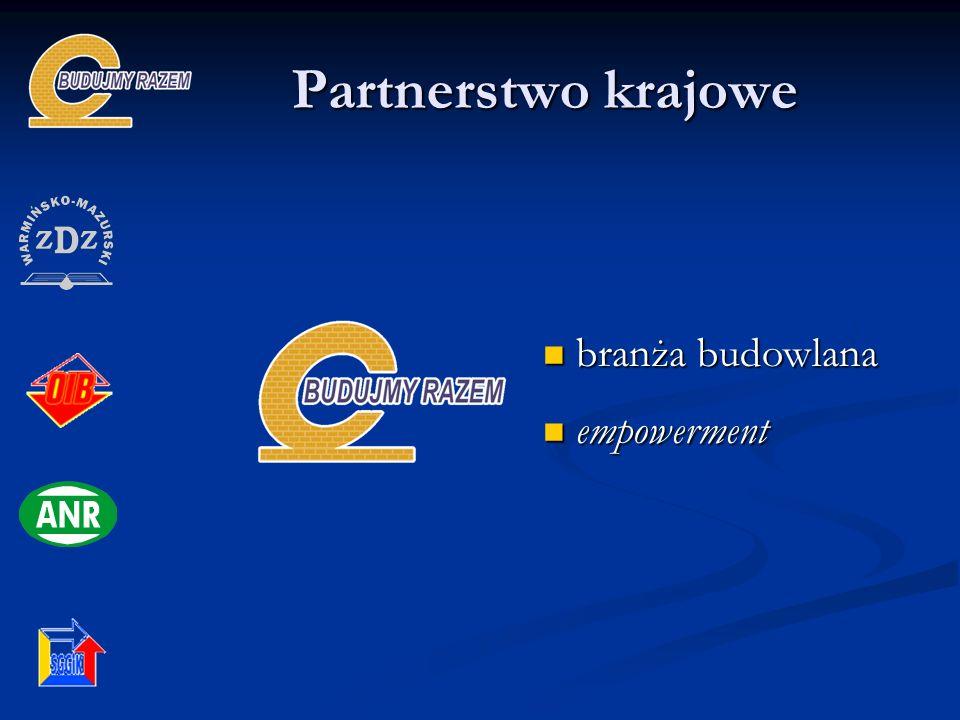 Partnerstwo krajowe branża budowlana branża budowlana empowerment empowerment