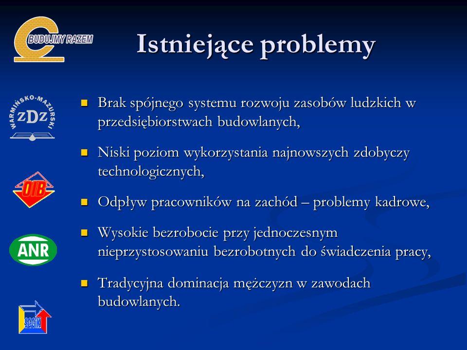 Istniejące problemy Brak spójnego systemu rozwoju zasobów ludzkich w przedsiębiorstwach budowlanych, Brak spójnego systemu rozwoju zasobów ludzkich w
