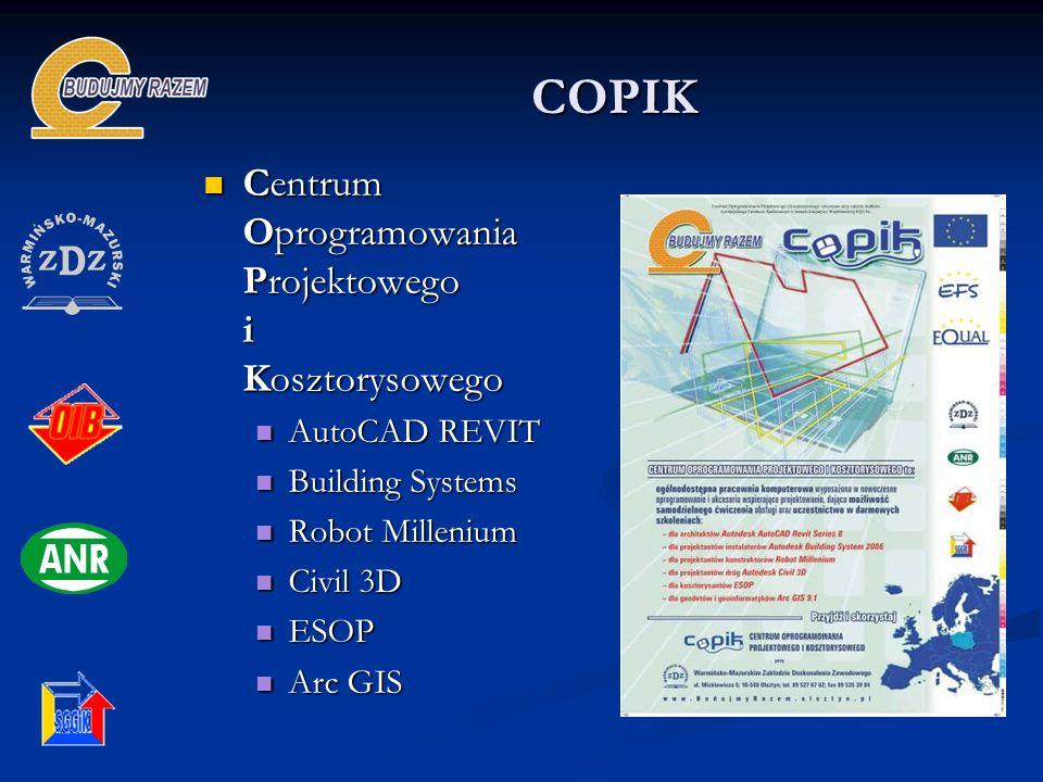 COPIK Centrum Oprogramowania Projektowego i Kosztorysowego Centrum Oprogramowania Projektowego i Kosztorysowego AutoCAD REVIT AutoCAD REVIT Building S