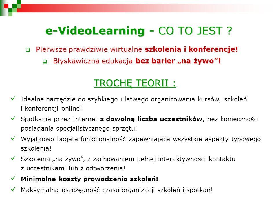 e-VideoLearning - CO TO JEST . Pierwsze prawdziwie wirtualne szkolenia i konferencje.