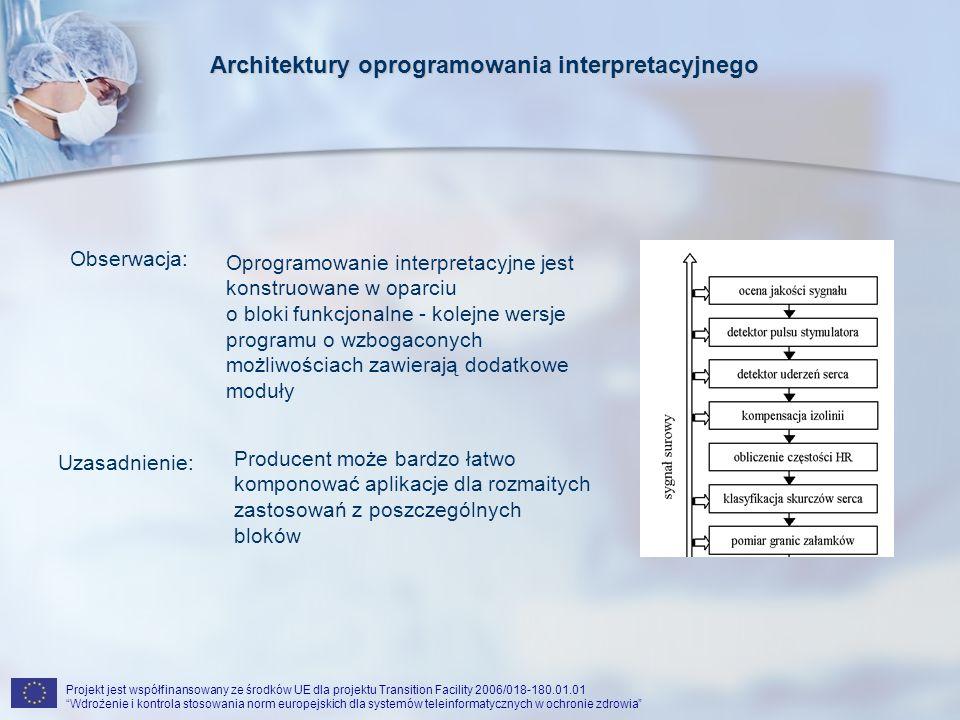 Projekt jest współfinansowany ze środków UE dla projektu Transition Facility 2006/018-180.01.01 Wdrożenie i kontrola stosowania norm europejskich dla systemów teleinformatycznych w ochronie zdrowiaBibliografia 1.CHIARUGI F.