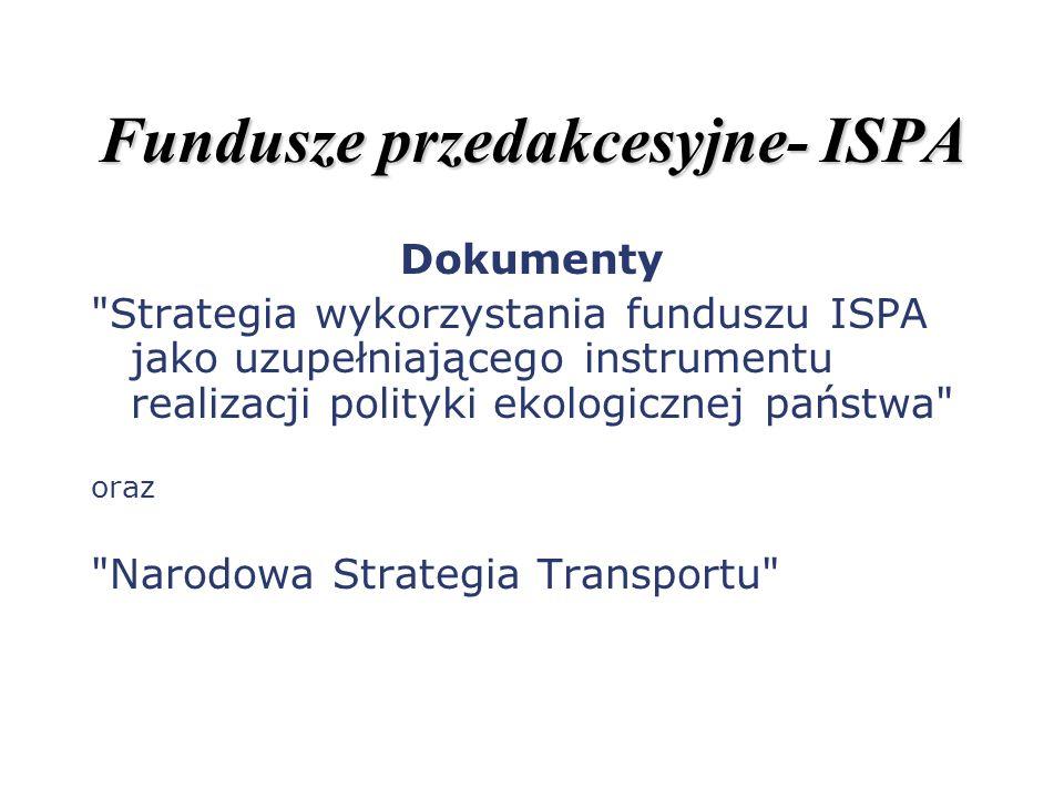 Fundusze przedakcesyjne- ISPA Dokumenty