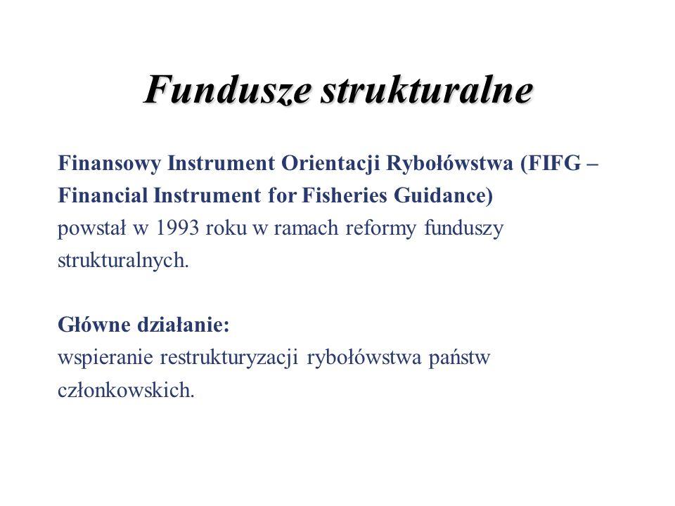 Fundusze strukturalne Finansowy Instrument Orientacji Rybołówstwa (FIFG – Financial Instrument for Fisheries Guidance) powstał w 1993 roku w ramach re