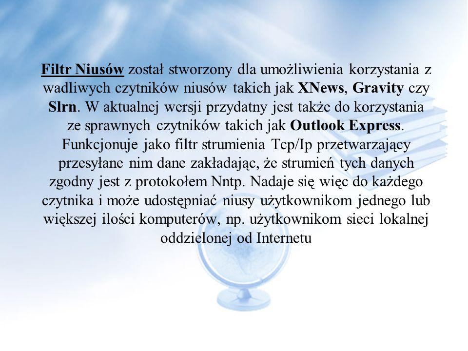 Bardzo pomocnym w używaniu HTML na niusach jest Pierwszy Polski Filtr Niusów przetwarzający wszystkie przychodzące artykuły do tego formatu i dopisują