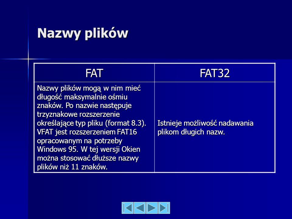 Sposób zapisu pliku w poszczególnych systemach FAT32 zmniejsza straty i zwalnia niewykorzystane miejsce na dysku