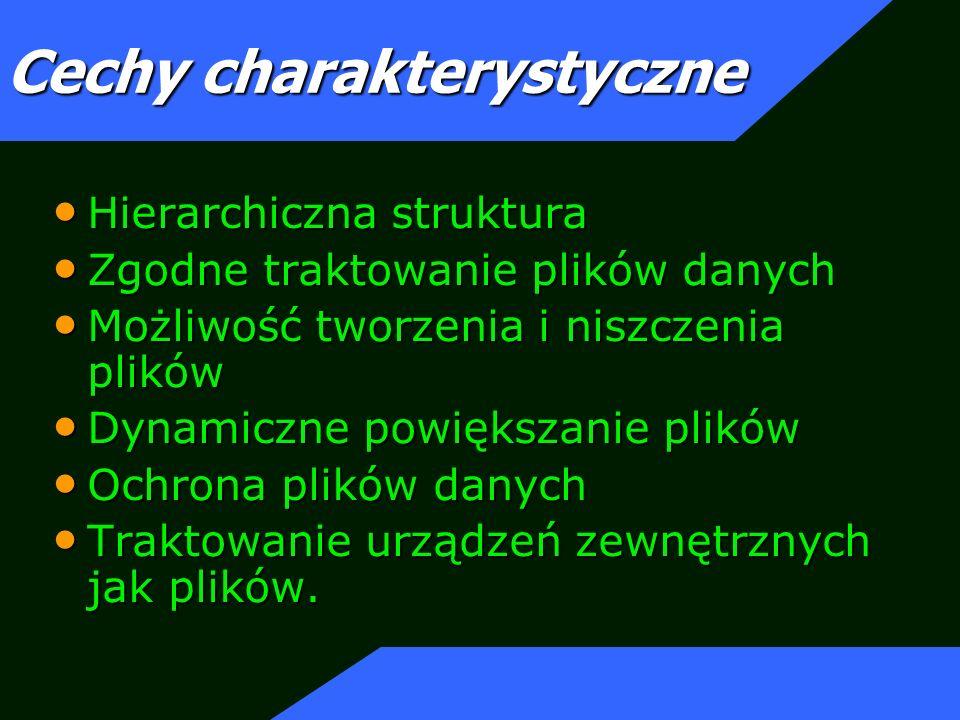 Wirtualny system plików UNIX potrafi obsługiwać wiele różnych formatów systemów plików.