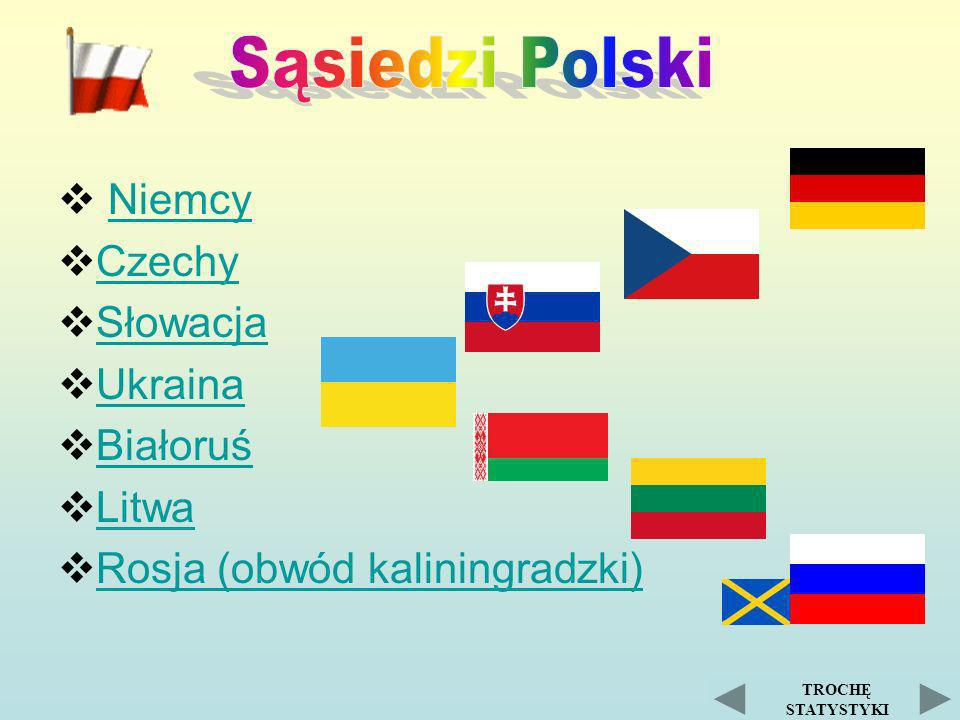 Niemcy Czechy Słowacja Ukraina Białoruś Litwa Rosja (obwód kaliningradzki) TROCHĘ STATYSTYKI
