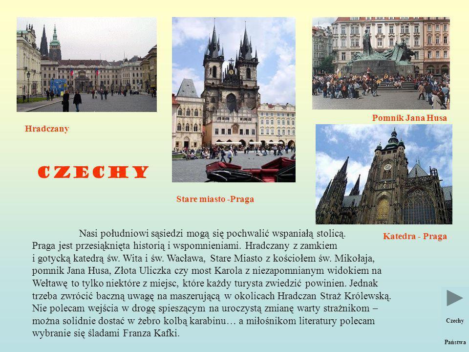 CZECHY Hradczany.Nasi południowi sąsiedzi mogą się pochwalić wspaniałą stolicą.