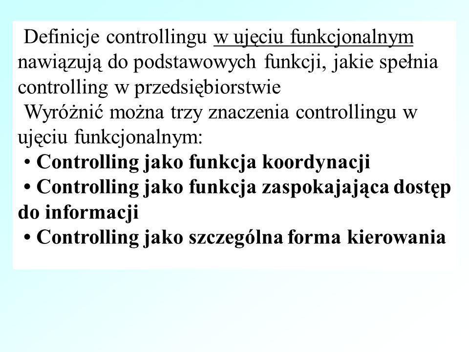 Rodzaje koordynacji w systemie controllingu Rzeczowa Co.