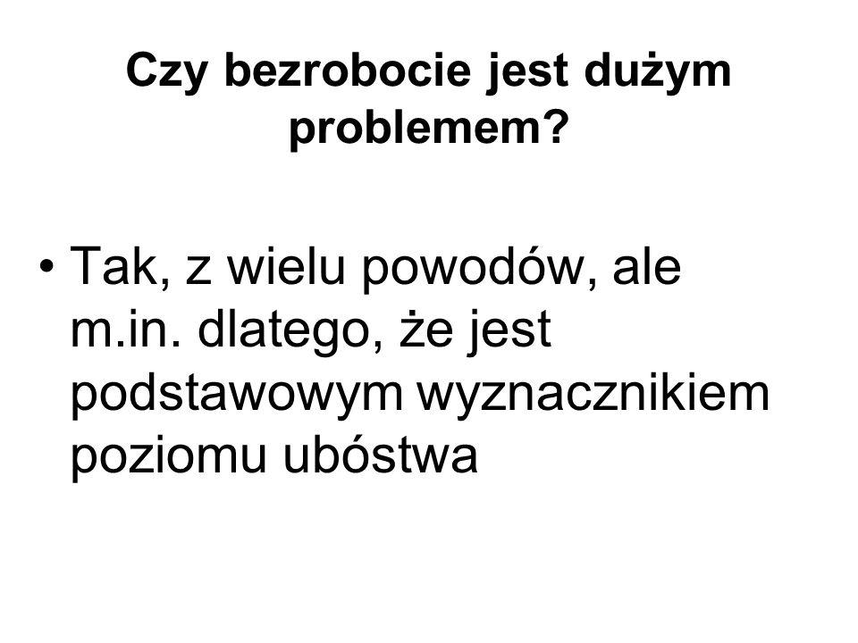 Ubóstwo i bezrobocie w Polsce, 1994-2001