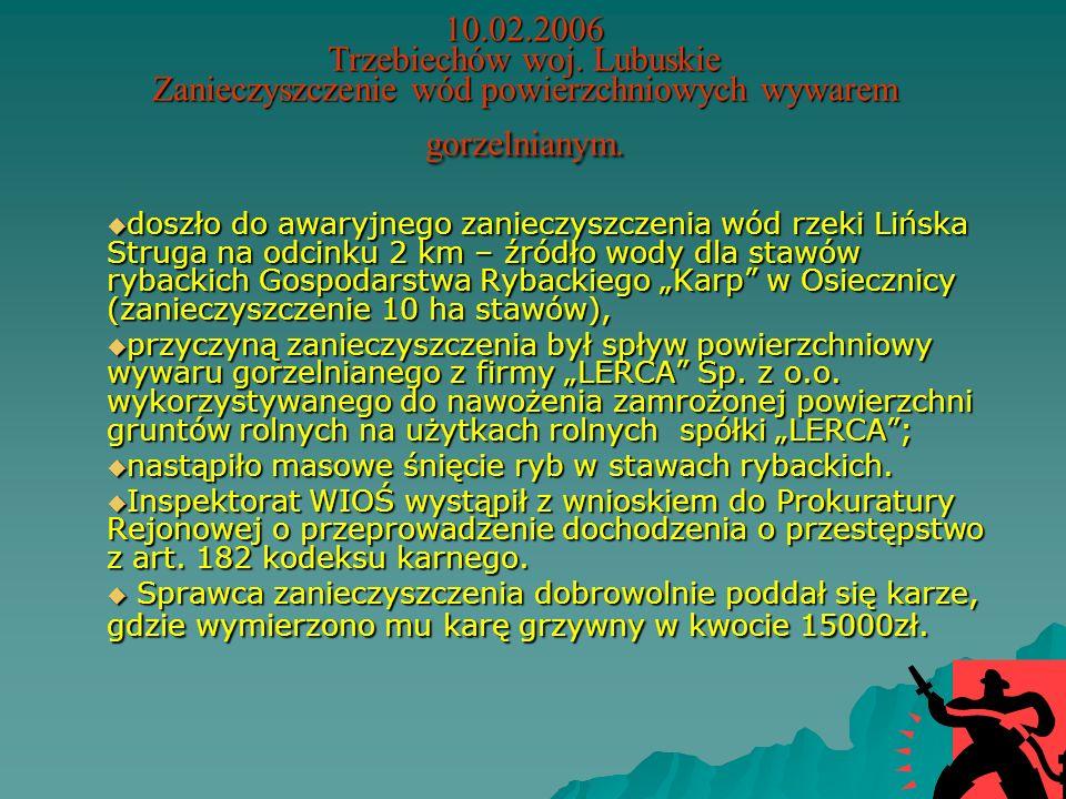 28.10.2005 Ełk woj.warmińsko-mazurskie Uwolnienie amoniaku z rozszczelnionej instalacji chłodniczej nastąpiło zawalenie się ściany podczas prac budowl