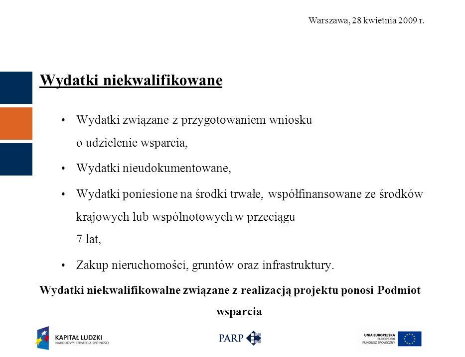 Warszawa, 28 kwietnia 2009 r.Finansowanie projektu Płatności w ramach projektu: 1.